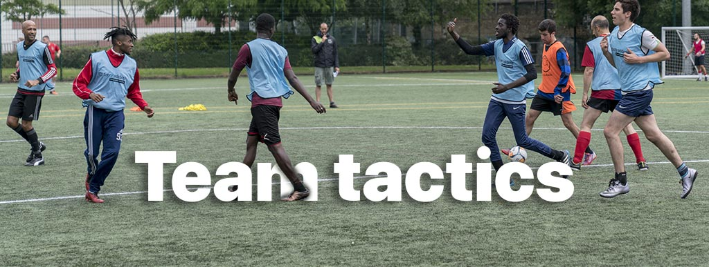 7 a side football team tactic
