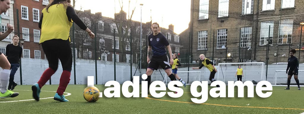 Play football women football games in London by Footy Addicts