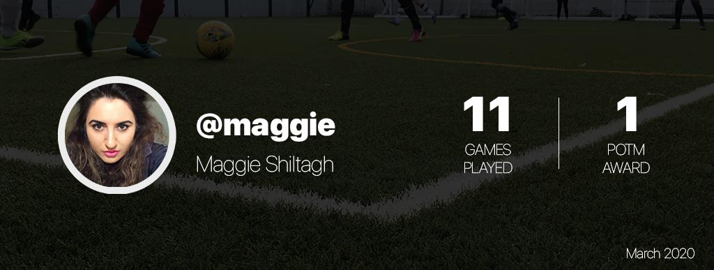 Maggie play women football in London