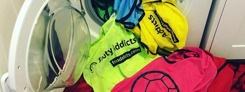 Footy Addicts football bibs washed